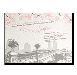 Wedding invitations manila philippines letterpress wedding debut central park new york 18th birthday debut invitation filmwisefo