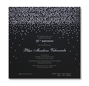 Wedding invitations manila philippines letterpress wedding diamond silver birthday stopboris Choice Image