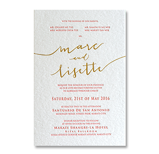Wedding invitations manila philippines letterpress wedding foil stamping calligraphy formal stopboris Image collections