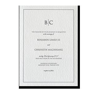 Wedding invitations manila philippines letterpress wedding letterpress formal monogram mckinley hill taguig wedding invitation stopboris Choice Image