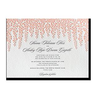 Wedding invitations manila philippines letterpress wedding letterpress pink wisteria guam wedding invitation stopboris Choice Image