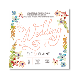 Wedding invitations manila philippines letterpress wedding watercolor floral square davao wedding invitation stopboris Choice Image