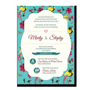Wedding invitations manila philippines letterpress wedding watercolor peacock flower cavite wedding invitation stopboris Images