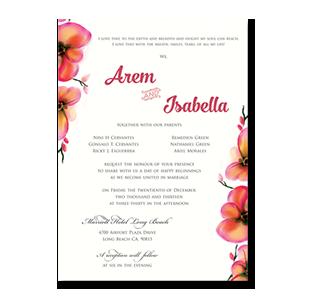 Wedding invitations manila philippines letterpress wedding watercolor chromatic flowers long beach ca wedding invitation stopboris Choice Image